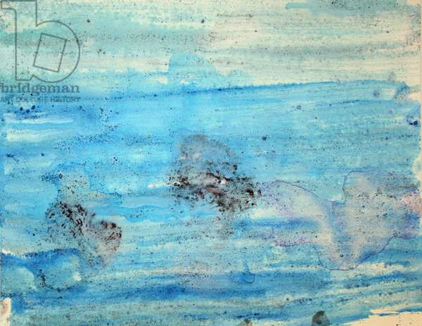 wrigley, 2007, (sea ice from the Antarctica's Ross Sea, sediment from Antarctica's Dry Valleys and mixed media on paper)