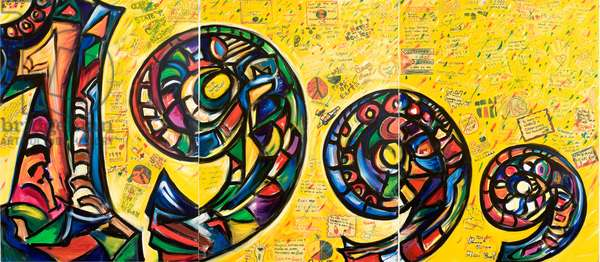 1999 Mural (triptych), 1998 (mixed media on canvas)
