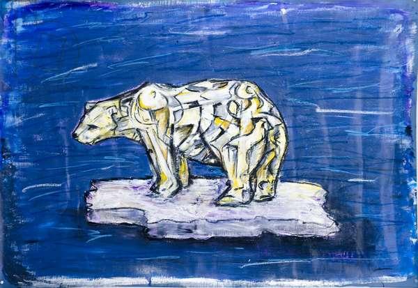 Polar Bear, 2006 (acrylic and mixed media on fabric)