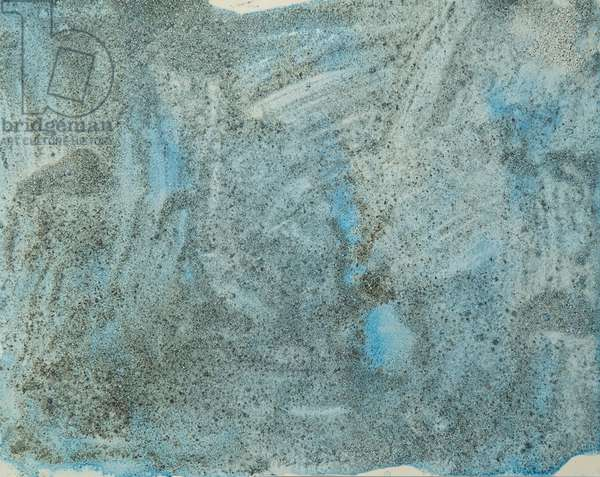 Antarctic Ice Painting: A26, 2008 (Antarctic ice, acrylic, and mixed media on paper)