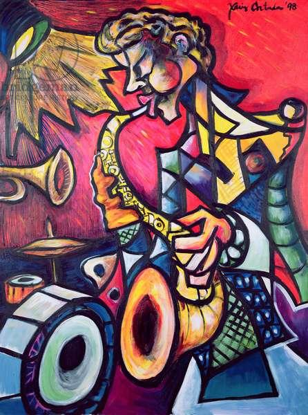 Jazz Sax, 1999 (acrylic on canvas)