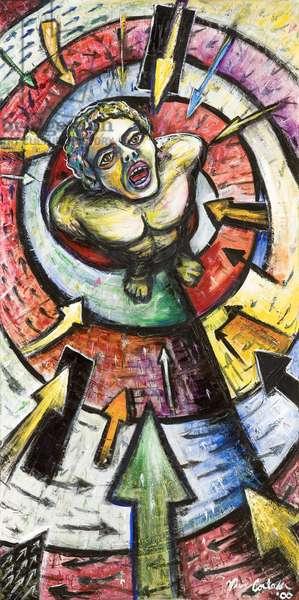 Estampita de San Sebastian, 2000 (acrylic on canvas)
