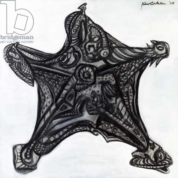 Starfish I, 2004 (mixed media on canvas)