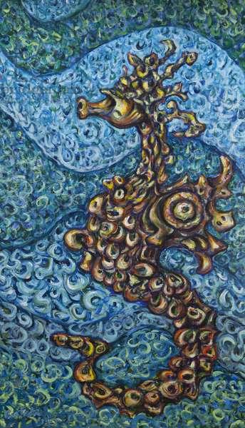 Seahorse, 2014, (acrylic on canvas)