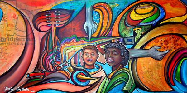 The Coexistence Mural: From Coexistence to Community, 2004 (acrylic & mixed media on canvas)