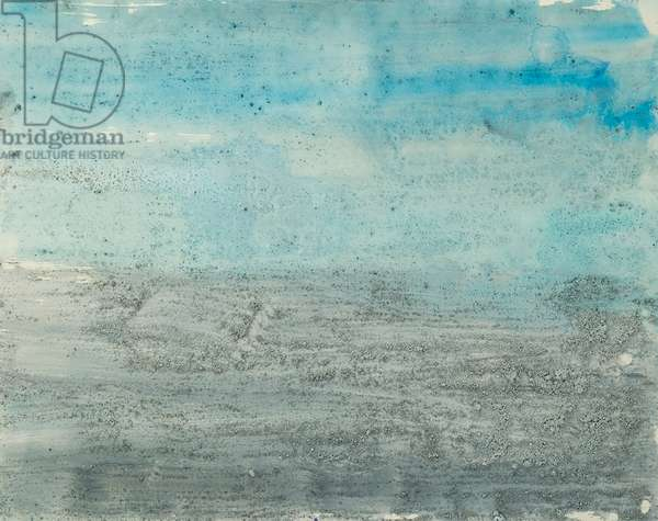 Antarctic Ice Painting: A45, 2008 (Antarctic ice, acrylic, and mixed media on paper)