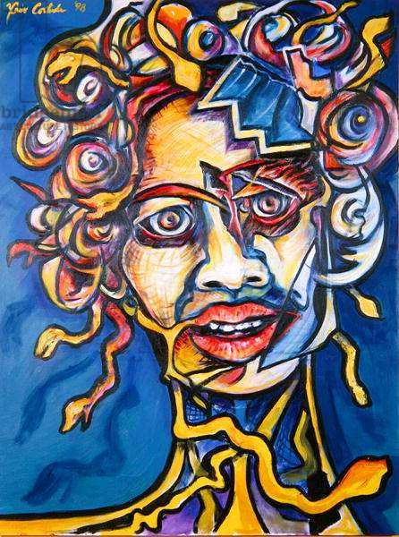 Medusa, 1998 (acrylic on canvas)