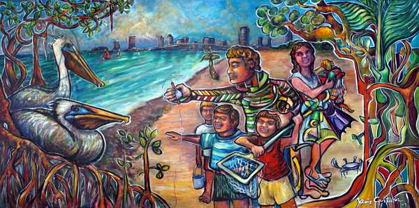 Discover Biscayne Bay, 2003 (acrylic on canvas)