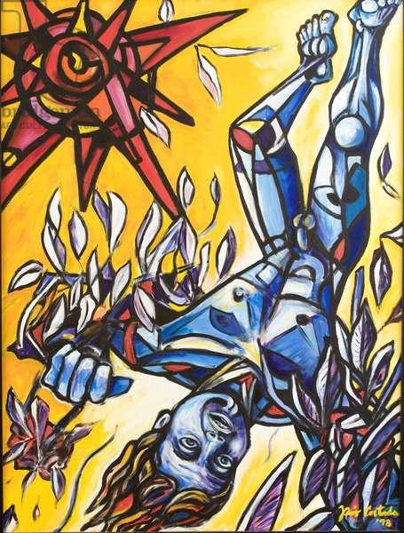 Icarus, 1998 (acrylic on canvas)