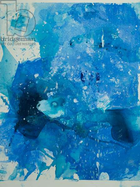 Arctic Ice Painting: 90N16, 2008 (North Pole Ice, acrylic, and mixed media on paper)