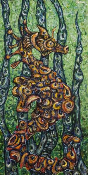 Littoral Creature, 2014, (acrylic on canvas)