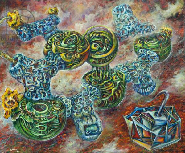The Four Nucleotides: Adenine, 2010 (oil on canvas)