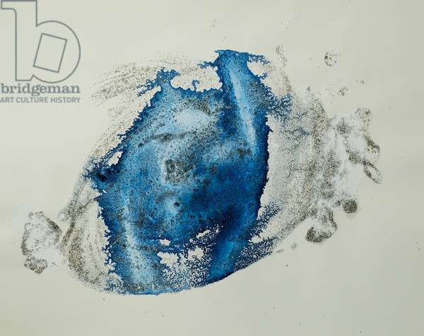 Antarctic Ice Painting: A15, 2008 (Antarctic sea ice, acrylic, and mixed media on paper)