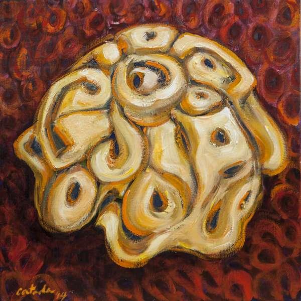 Urchin, 2014, (acrylic on canvas)