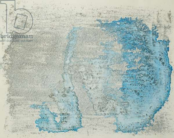 Antarctic Ice Painting: A28, 2008 (Antarctic ice, acrylic, and mixed media on paper)
