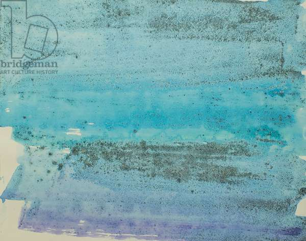 Antarctic Ice Painting: A49, 2008 (Antarctic ice, acrylic, and mixed media on paper)