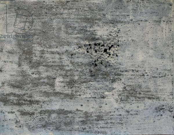 balleny, 2007, (sea ice from the Antarctica's Ross Sea, sediment from Antarctica's Dry Valleys and mixed media on paper)