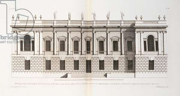 Burlington House, Piccadilly, from 'Vitruvius Britannicus or The British Architect' by Colen Campbell, 1717 (engraving)