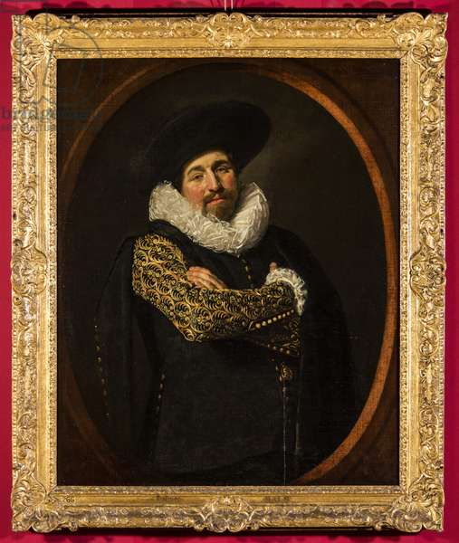 Portrait of a man, possibly Isaac Abrahamsz. Massa, c.1622 (oil on canvas on wood panel)