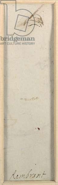 'Rembrandt', c.1650-52 (pen & ink on paper)