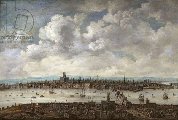 View of London from Southwark, 1640-60 (oil on canvas)