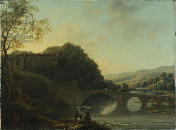 Lismore Castle from the East (oil on canvas)