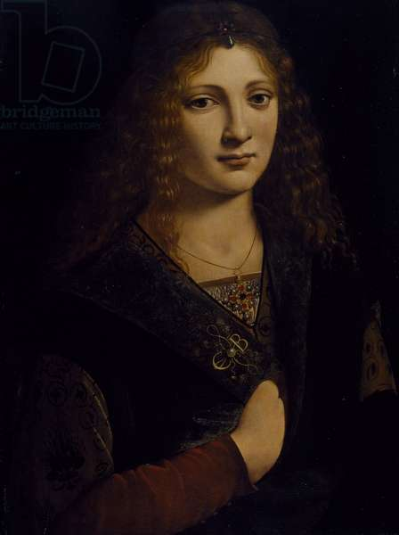 Portrait of a young man, possibly Girolamo Casio, c.1500 (oil on wood panel)