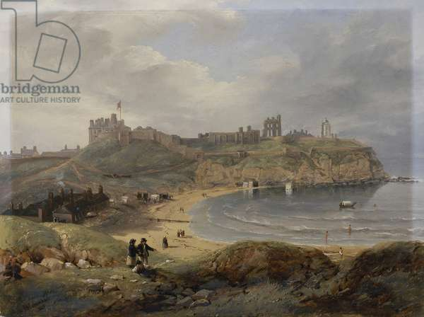 Prior's Haven, Tynemouth, 1845 (oil on millboard)
