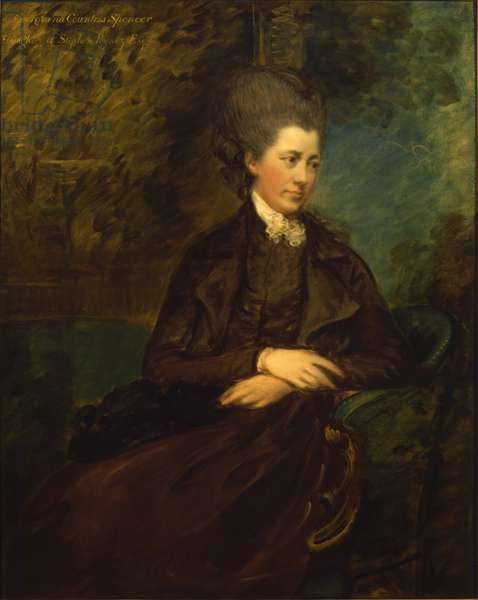 Portrait of Georgiana Poyntz, Countess Spencer, c.1780-81 (oil on canvas)