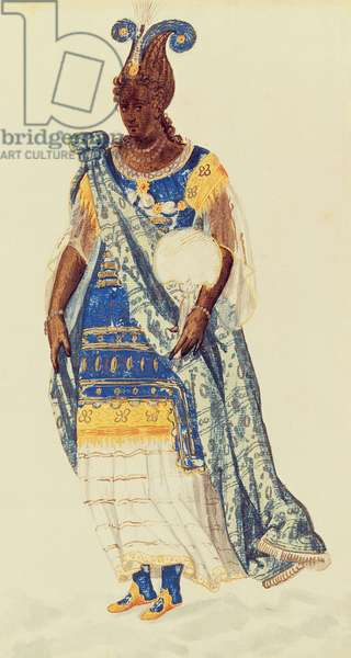Masquer: a Daughter of Niger, c.1608 (w/c on paper)
