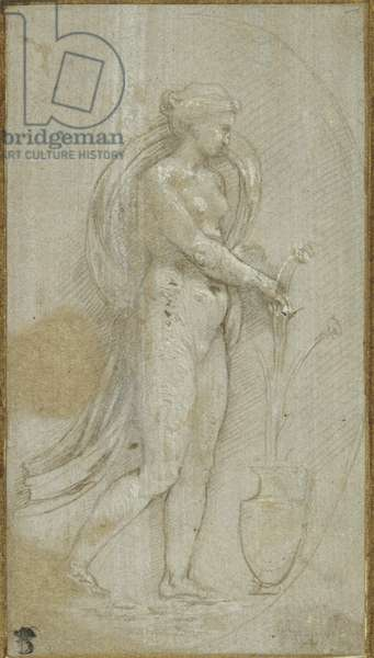Allegory of Grammatica (metalpoint on grey prepared surface, heightened with white bodycolour)
