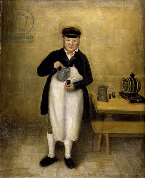 Portrait of the Chatsworth cellarman, c.1835 (oil on board)