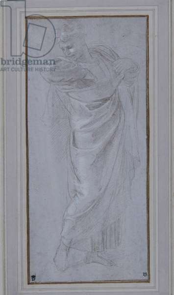 St. Paul rending his garments, 1514-15 (metalpoint, heightened with white bodycolour, on lilac grey preparation)
