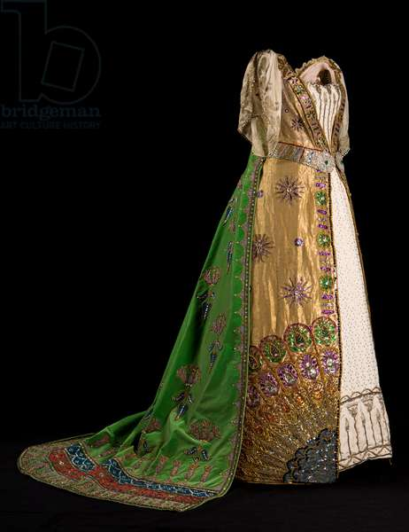 Louise, Duchess of Devonshire's Ball Gown for the Diamond Jubilee Ball, 1897 (silver & gold cloth with shot-silk gauze and velvet)