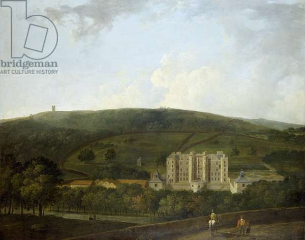 A view of Elizabethan Chatsworth (oil on canvas)