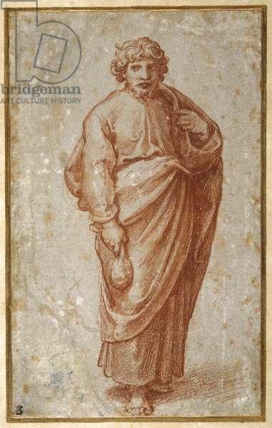 The Twelve Apostles: St. Paul, 1518-20 (chalk on paper)