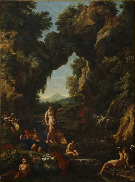 Landscape with Diana and Actaeon, c.1657 (oil on canvas)