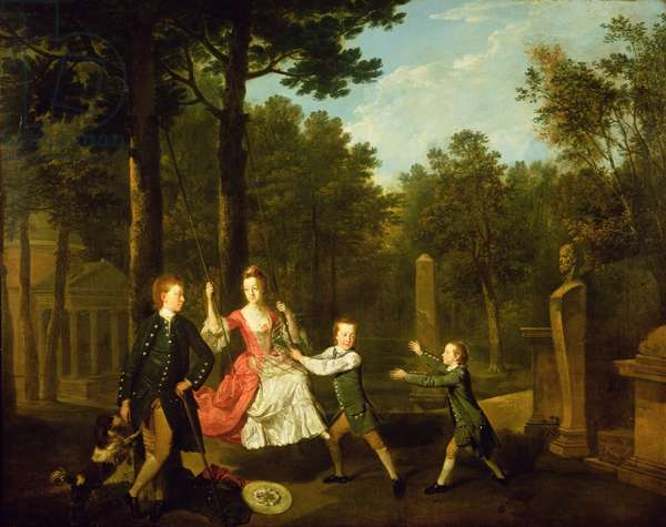 The children of the 4th Duke of Devonshire (oil on canvas)