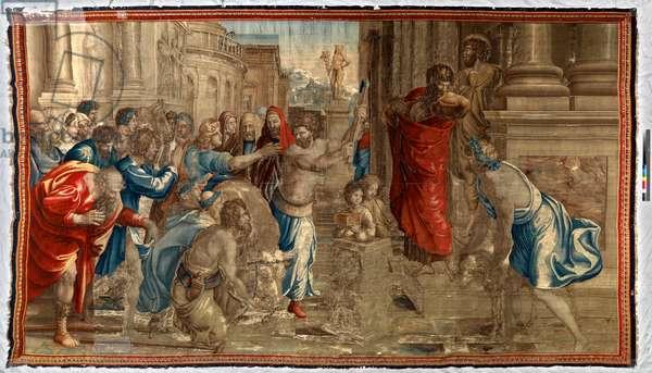 The Sacrifice at Lystra, Mortlake workshop, 1635-39 (textile)