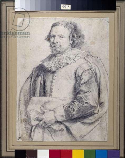 Hans van Mildert, 1638 (black chalk on white paper)