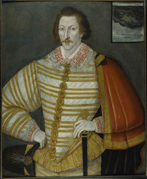Portrait of Thomas Cavendish, the Circumnavigator, 1588-91 (oil on wood panel)