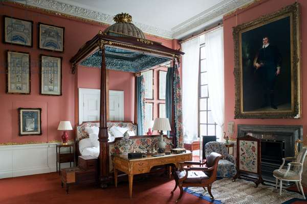 Queen of Scots Bedroom, Chatsworth House, Derbyshire (photo)