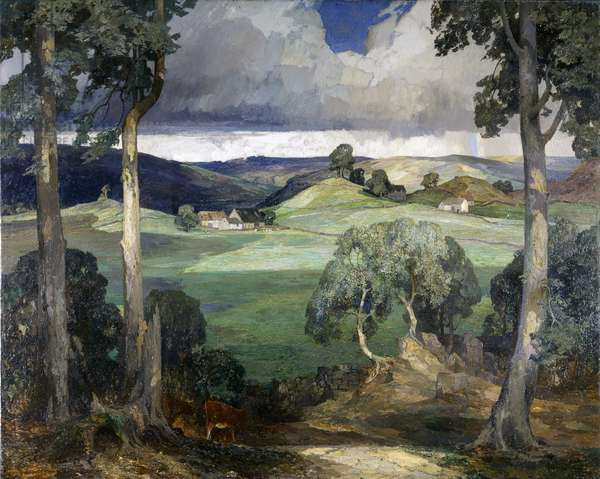 Storiths in Wharfedale on The Bolton Abbey Estate, 1929 (oil on canvas)