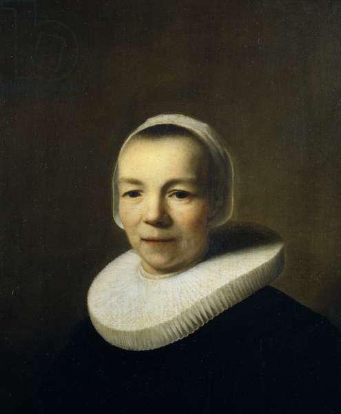 Portrait of Baertje Martens, 1644 (oil on oak)