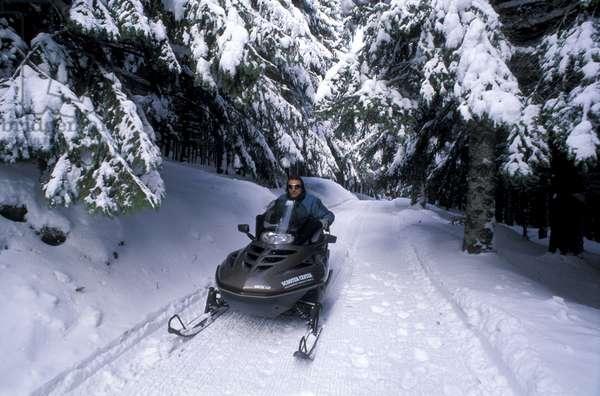 Snowmobile, Sestola, Emilia-Romagna, Italy