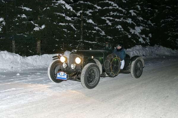 Bentley 4.5 liters, Winter Marathon 2004, Madonna di Campiglio, Trento, Trentino, Italy