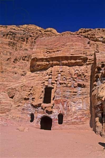 Foreshortening, Petra, Jordan, Middle East
