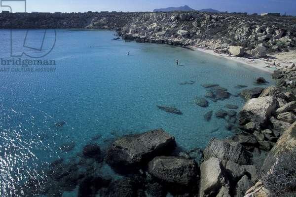 Cala Azzurra, Favignana, Sicily, Italy