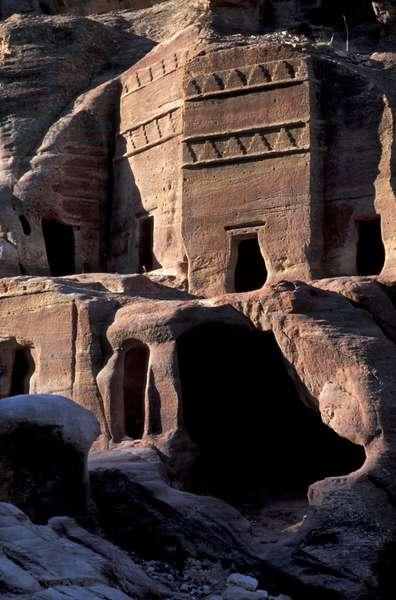 Tomb, Petra, Jordan, Middle East