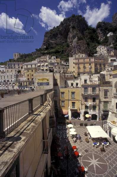 Cityscape of Atrani, Amalfi coast, Campania, Italy.
